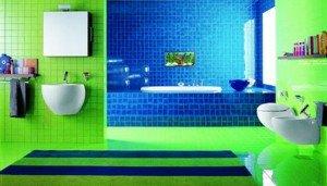 deze badkamertegels zijn kleine tegels met felle kleuren zoals u ziet ...