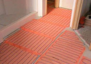 Elektrische mat als vloerverwarming