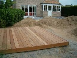 leggen hout terras